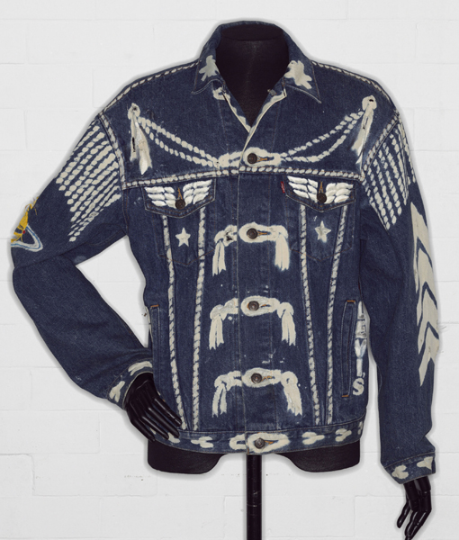 Denim jacket, BLITZ by Levi Strauss & Co., customised by Vivienne Westwood, 1986, (c) V&A Images